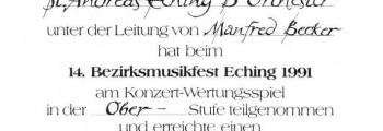 Wertungsspiel Eching (BO), 1991