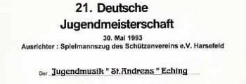 Jugendmeisterschaft Harsefeld, 1993