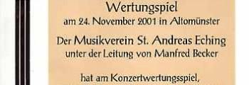 Wertungsspiel Altomünster, 2001