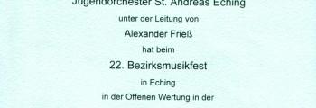 Wertungsspiel Eching, 2005