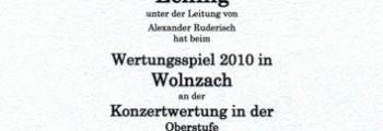 Wertungsspiel Wolnzach, 2010